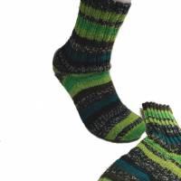 handgestrickte Socken, Größe 40 / 41, 4fach Sockenwolle, grün,  Bild 4