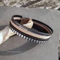Leder-Armband Silberstreif Bild 4