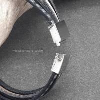 Leder-Armband Silberstreif Bild 5