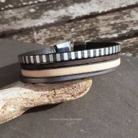 Leder-Armband Silberstreif Bild 6