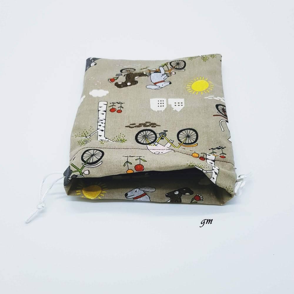 Geschenkebeutel tierisch schön, Stoffbeutel für kleine Geschenke, 15 x 20 cm Bild 1
