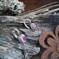 Wunderschöne Ohrringe mit Swarovski Chatons Bild 2