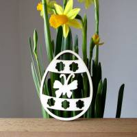 Anhänger-Ei Schmetterling Sibylle aus Holz Bild 1