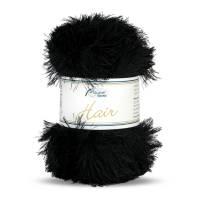 (100g/3,90€) Rellana Hair Fransengarn 50 g schwarz Bild 1