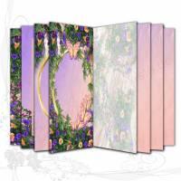 DIY Grafik-Set Digitales Papier Motiv *Mein Sommergarten*, für Signaturen für Junk-Journals, entworfen von Alanja Bild 1