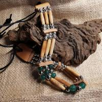 Choker, Drachen-Achat-Perlen (CH 30) Bild 2