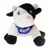 Kuscheltier Kuh schwarz / weiß 16cm mit Namen am Halstuch - Personalisierte Schmusetiere für Jungen und Mädchen  Bild 2