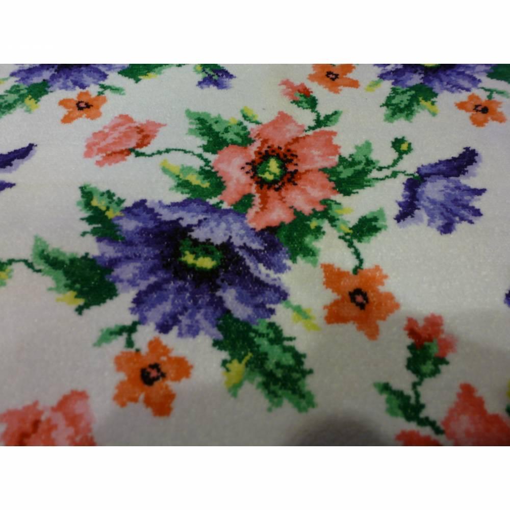 Frottee-Handtuch - bunte Blumen - 70er Bild 1