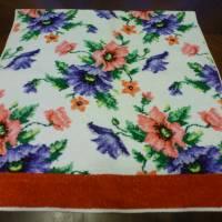 Frottee-Handtuch - bunte Blumen - 70er Bild 3