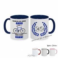 "Tasse ""Fahrrad fahren ohne Akku"" *optional personalisierbar* Bild 1"