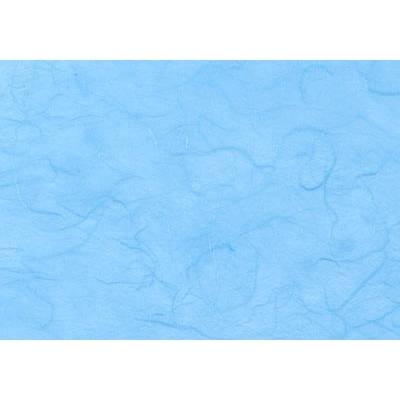 Strohseidenpapier 50x70 cm Himmelblau Bild 1
