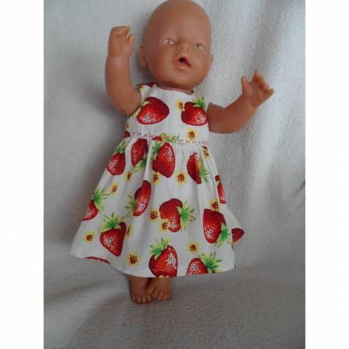 Puppenkleid,für 43 cm große Puppen,Baumwollstoff