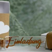 Glasröhrchen Reagenzglas Einladung Kommunion Konfirmation Geburtstag Bild 3