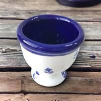 4 Eierbecher, Anker, Keramik handbemalt Bild 3