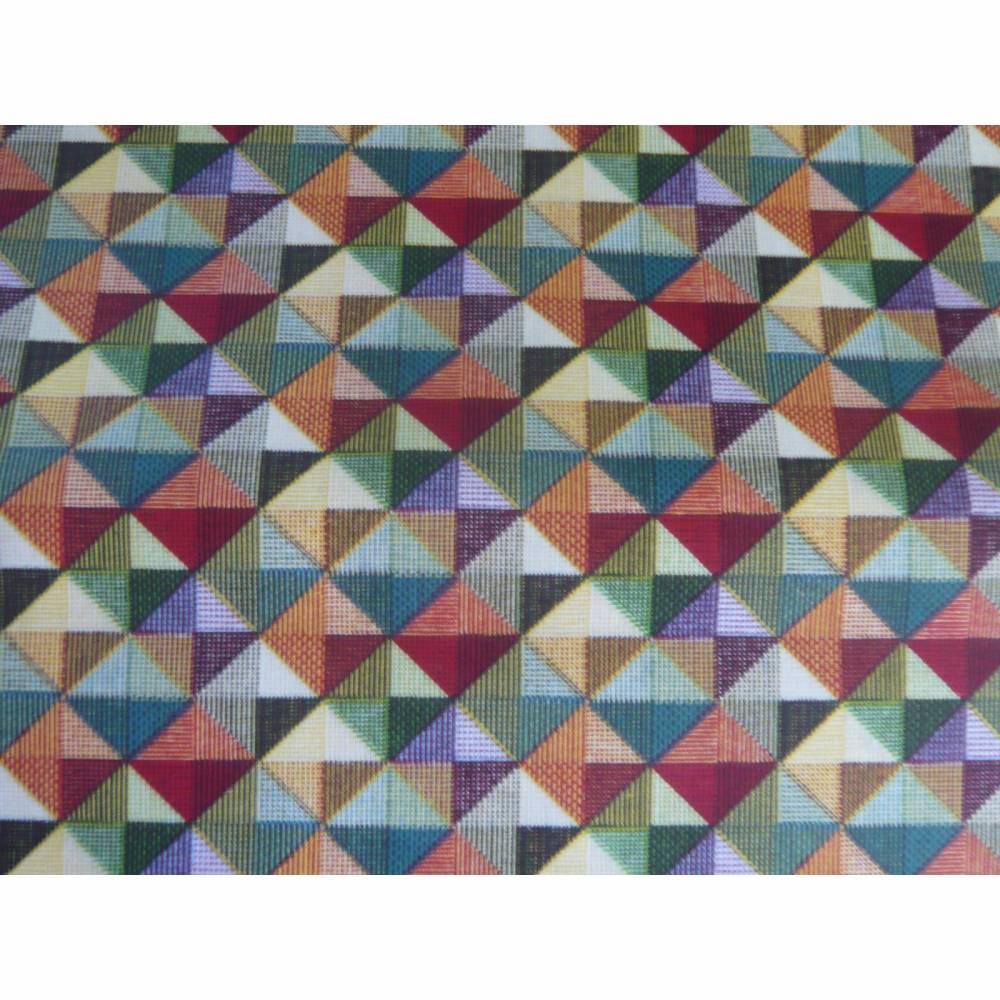 9,80 EUR/m Stoff - Baumwolle retro / kleine Dreiecke bunt Bild 1
