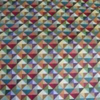 9,80 EUR/m Stoff - Baumwolle retro / kleine Dreiecke bunt Bild 2