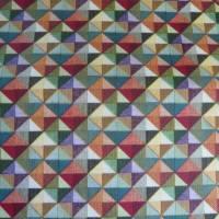 9,80 EUR/m Stoff - Baumwolle retro / kleine Dreiecke bunt Bild 3