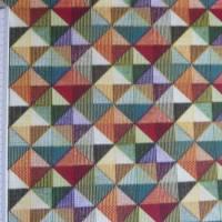 9,80 EUR/m Stoff - Baumwolle retro / kleine Dreiecke bunt Bild 5