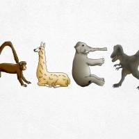 Türbuchstaben als Aufkleber fürs Kinderzimmer   Namensschild Tiere   ABC Wandtattoo oder Türschild   Alphabet Bild 3