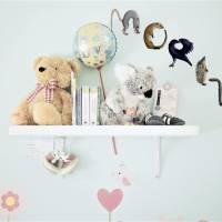 Türbuchstaben als Aufkleber fürs Kinderzimmer   Namensschild Tiere   ABC Wandtattoo oder Türschild   Alphabet Bild 7
