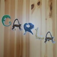 Türbuchstaben als Aufkleber fürs Kinderzimmer   Namensschild Tiere   ABC Wandtattoo oder Türschild   Alphabet Bild 8