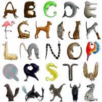 Türbuchstaben als Aufkleber fürs Kinderzimmer   Namensschild Tiere   ABC Wandtattoo oder Türschild   Alphabet Bild 9