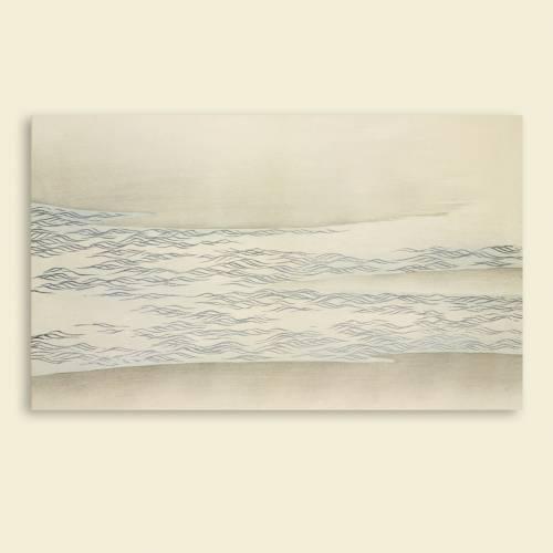 Leinwandbild helle Wellen Japanische Kunst Abstrakt Meer Weiß Artprint Holzschnitt um 1909