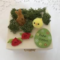 Geldgeschenk Ostern originell verpacken Osterhase Osterei Küken Frohe Ostern Ostergeschenk Holz-Box Bild 2