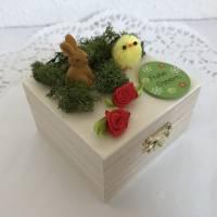 Geldgeschenk Ostern originell verpacken Osterhase Osterei Küken Frohe Ostern Ostergeschenk Holz-Box Bild 3