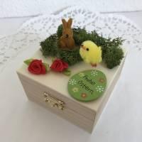 Geldgeschenk Ostern originell verpacken Osterhase Osterei Küken Frohe Ostern Ostergeschenk Holz-Box Bild 4