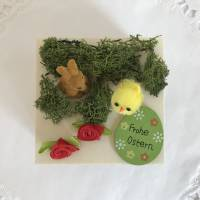 Geldgeschenk Ostern originell verpacken Osterhase Osterei Küken Frohe Ostern Ostergeschenk Holz-Box Bild 5