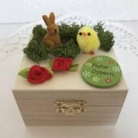 Geldgeschenk Ostern originell verpacken Osterhase Osterei Küken Frohe Ostern Ostergeschenk Holz-Box Bild 6