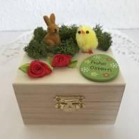 Geldgeschenk Ostern originell verpacken Osterhase Osterei Küken Frohe Ostern Ostergeschenk Holz-Box Bild 7