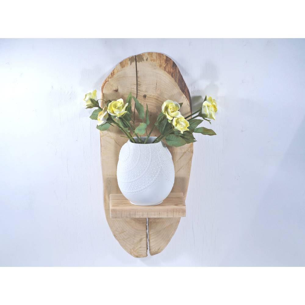 Baumscheibe als Regal, nachhaltiges Wandregal, Holzregal, natürlich wohnen, Wandschmuck, Einzigartiges Regal aus Holz, W Bild 1