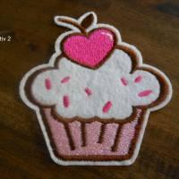Gross Cupcake Kuchen Törtchen kawaii  Patch zum Aufbügeln  Bild 1