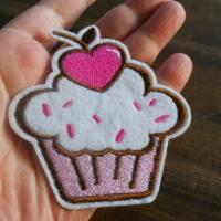 Gross Cupcake Kuchen Törtchen kawaii  Patch zum Aufbügeln  Bild 2