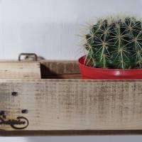 Regal aus Palettenholz als Blumenregal, Holzregal, Wohndeko,  oder für Badutensilien, Palettenholzregal, Küchenregal für Bild 2