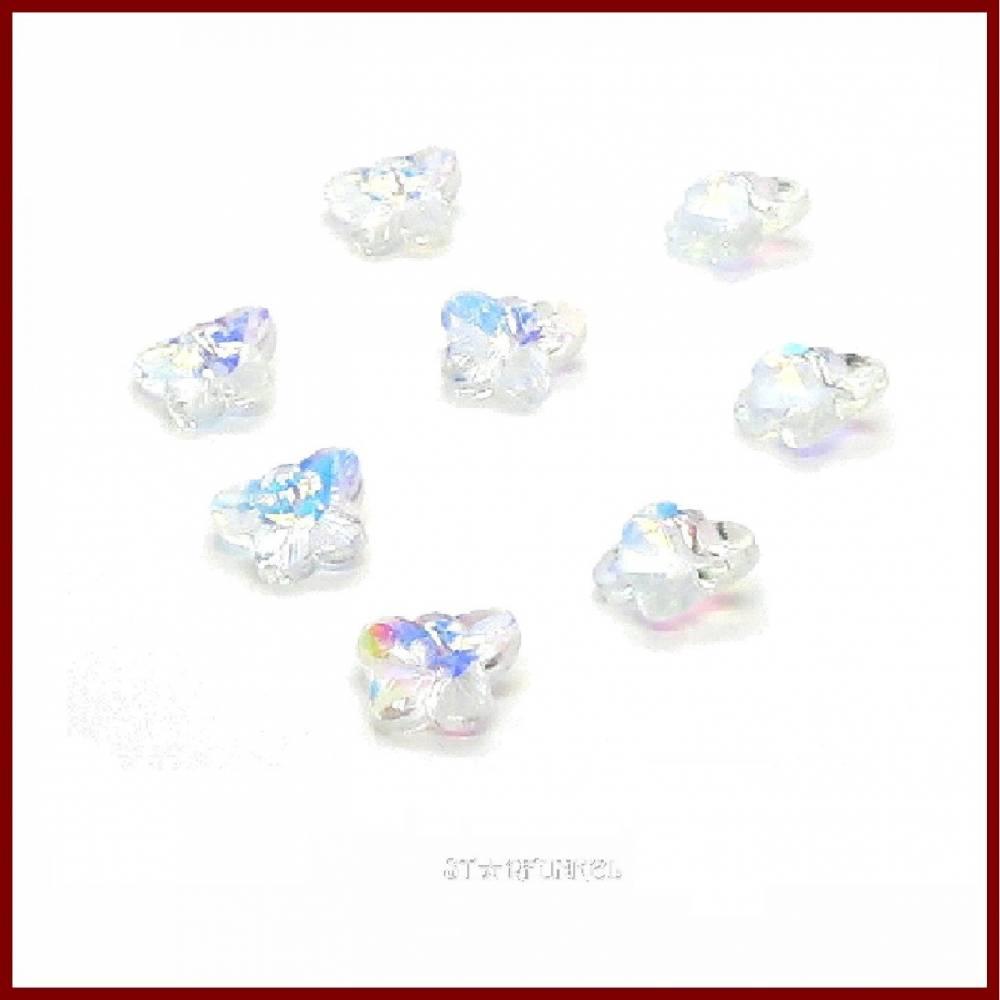 "8 Kristall-Anhänger ""Butterfly"" 14mm Schmetterlinge clear AB Bild 1"