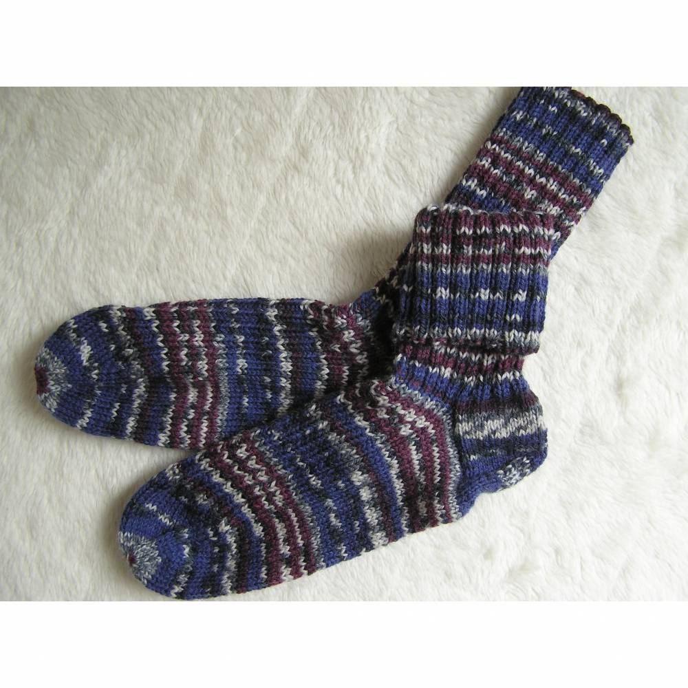 Socken - Gr. 42 - handgestrickt Bild 1