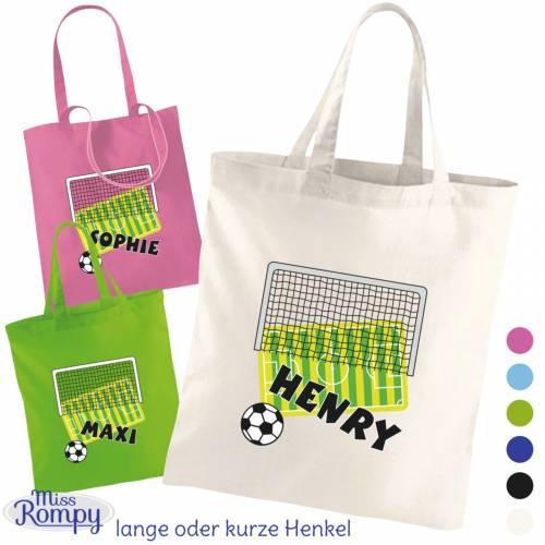 MissRompy   Fußball (841) Stoffbeutel Name Kinderbeutel Einkaufstasche Jutebeutel Wechselkleidung