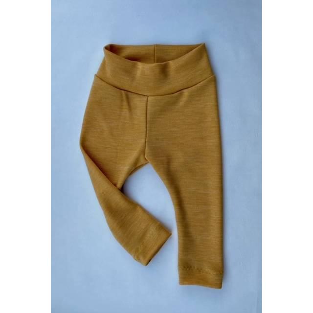 Stoffwindel-Leggings Wolle kbT (feinster Merinowolljersey gelb meliert - BeeCino von Danisch Pur) Bild 1