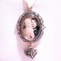 Brautstrauß Memorial oval + Herz in Silber Bild 6