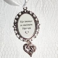 Brautstrauß Memorial oval + Herz in Silber Bild 8