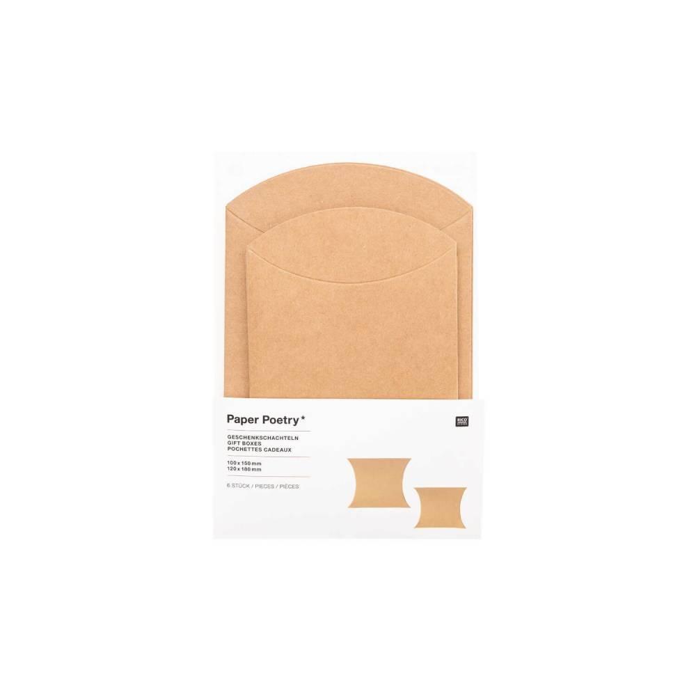 Kissenschachteln Kraftpapier 2 Größen Bild 1
