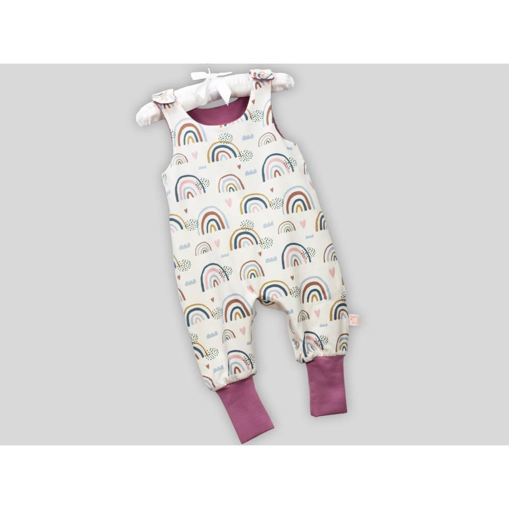 Bio Baby Strampler Regenbögen mit Druckknöpfen Bild 1