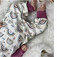 Bio Baby Strampler Regenbögen mit Druckknöpfen Bild 2