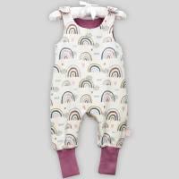 Bio Baby Strampler Regenbögen mit Druckknöpfen Bild 3