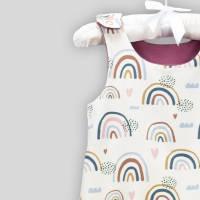 Bio Baby Strampler Regenbögen mit Druckknöpfen Bild 6
