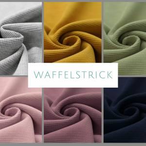 ab 50cm Waffelstrick Jersey - 100% Baumwolle Waffelstoff - Baby Kinder Kleidung Schlafsack, Latzhose Bild 1