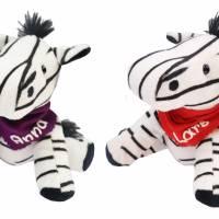 Kuscheltier Zebra schwarz / weiß 16,5cm mit Namen am Halstuch - Personalisierte Schmusetiere für Jungen und Mädchen  Bild 1